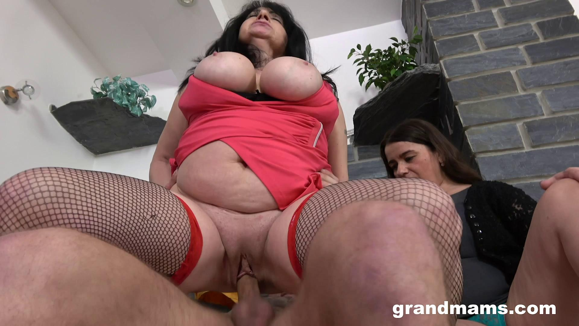 [GrandMams] Mature Sluts With Big Tits Love Young Cock (06.23.2020)