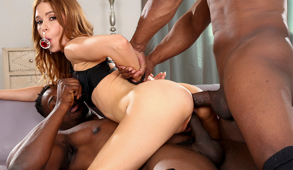 One For The Pussy, One For The Ass (Pepper Hart, Prince Yahshua) [Bangbros]