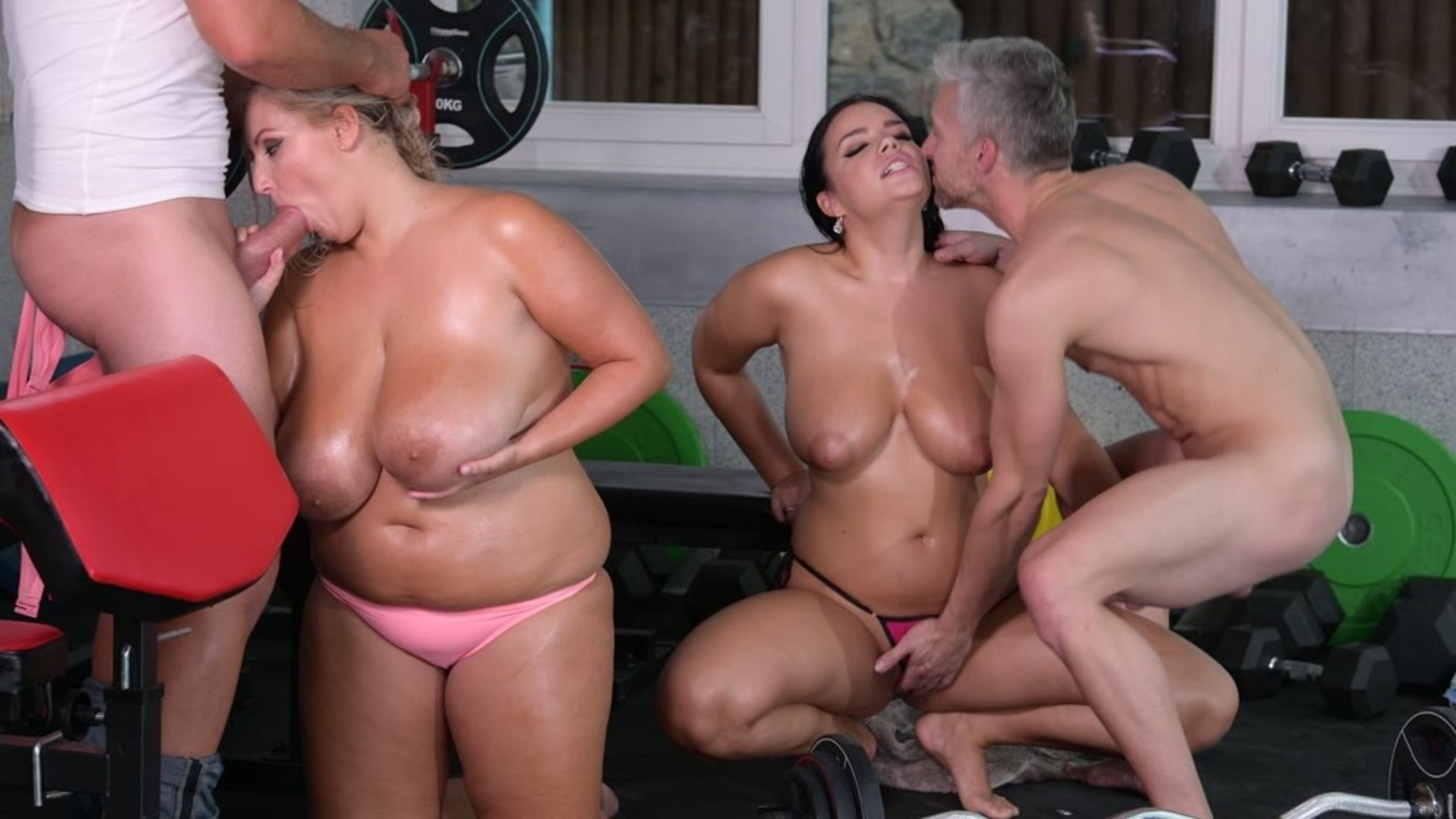 Quick And Dirty Foursome Workout (Krystal Swift, Sofia Lee) [DDFNetwork]