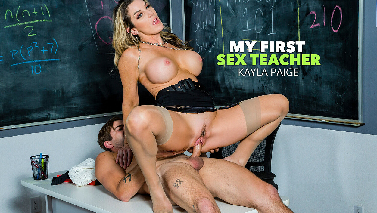 [MyFirstSexTeacher] Kayla Paige (Ms. Kayla Paige Is Ready To Ride Her Student's Cock! / 01.07.2024)