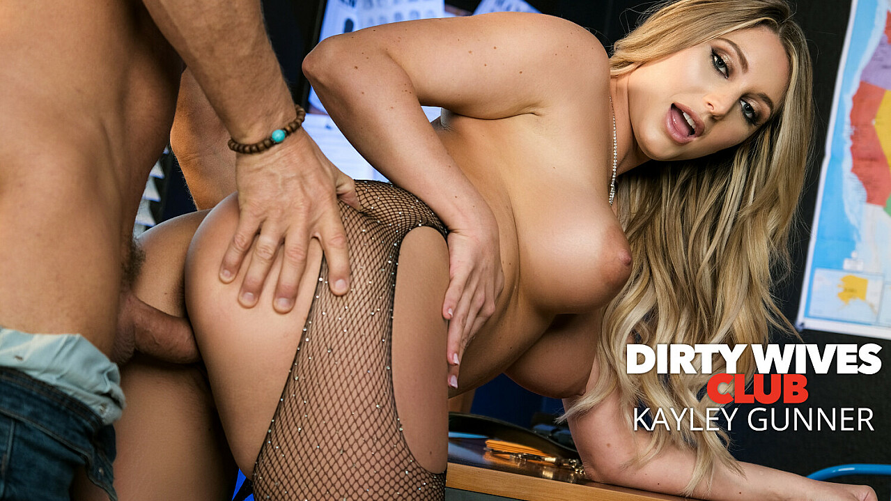 [DirtyWivesClub] Kayley Gunner (Kayley Gunner Fucks Detective London At The Police Station / 04.14.2021)