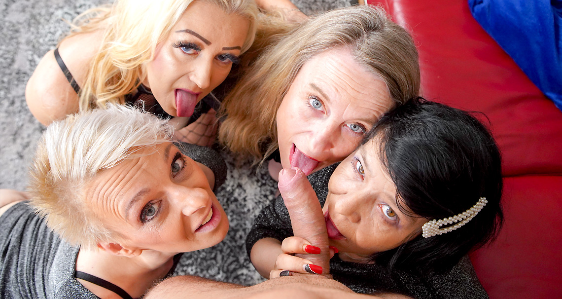 [Grandmams] Renate, Belinda Bee, Charllie, Mia S (A Dream Orgy With Four Mature Whores / 04.24.2021)