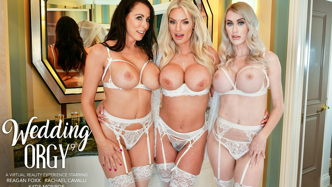[NaughtyWeddings] Katie Monroe, Rachael Cavalli, Reagan Foxx (Rachael Cavalli Surprises Her Bridesmaids, Katie Monroe And Reagan Foxx, With The Sexy Stripper From The Bachelorette Party / 05.07.2021)